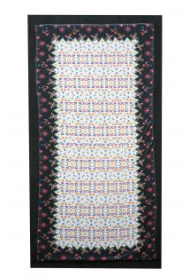 Reversible velvet towel/coloured pareo - MAGIC CARPET FLORAL