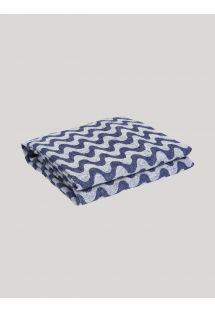 COPACABANA LINEN TOWEL NAVY BLUE