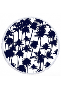palm tree patterned round beach towel - LA PALMERAIE