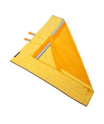 Yellow hooded towel for babies 80x80cm - KIKOY BAMBINO IBIZA