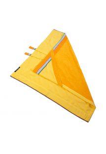 80x80cmサイズの黄色フード付きベビータオル - KIKOY BAMBINO IBIZA