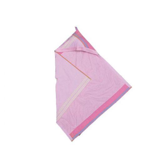 Pink hooded baby towel, 80x80cm - KIKOY BAMBINO NAPENDA