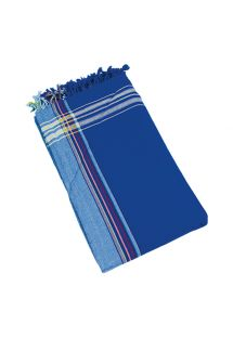 Blue reversible pareo and beach towel - KIKOY BORA BORA
