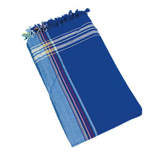 Blue reversible pareo and beach towel - KIKOY BORA BORA