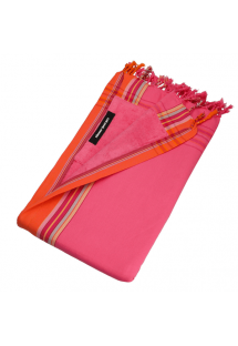 Reversible bright pink beach towel - pareo - KIKOY DIANI