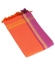 Large Reversible Pareo/Terry Duo Towel - KIKOY DUO MANGO