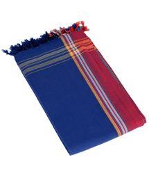 Large reversible blue towel/pareo - KIKOY DUO SERENA