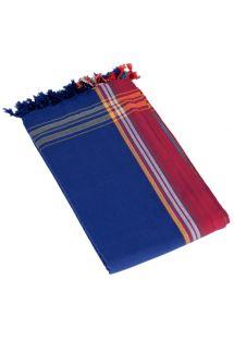 Grande serviette/paréo bleue réversible - KIKOY DUO SERENA
