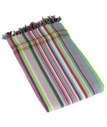 Large Reversible Striped Towel/Pareo - KIKOY DUO SERENGETI