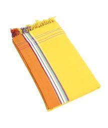 Yellow reversible pareo and beach towel - KIKOY IBIZA