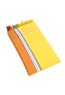 Yellow reversible pareo and beach towel - KIKOY IBIZA