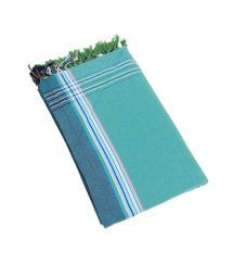 Turquoise reversible pareo and beach towel - KIKOY IPANEMA