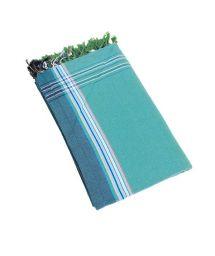 Turquoise reversible pareo and beach towel - KIKOY IPANEMA