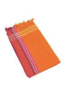 Oranje omkeerbare pareo/handdoek - KIKOY MOOREA
