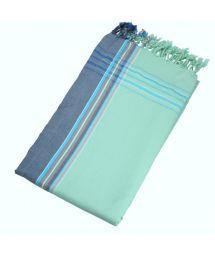 Reversible pastel green beach towel - sarong - KIKOY NIL