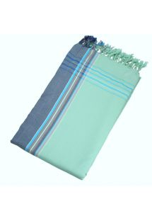 Reversible pastel green beach towel - sarong - KIKOY NIL