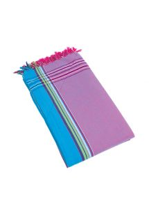 Mauve reversible pareo and beach towel - KIKOY PYLA