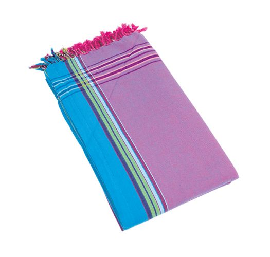 Mauve reversible pareo and beach towel - KIKOY PYLA