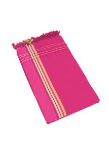 Dark pink reversible pareo and terry cloth towel - KIKOY SANTA MONICA