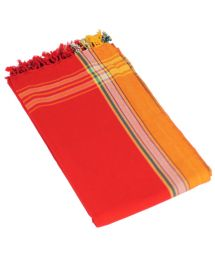 Reversible Red Beach Towel/Pareo - KIKOY SIMBA