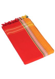 Reversible Red Beach Towel/Pareo - KIKOY SIMBA