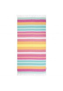 Rectangular colorful strappy fouta - FOUTA TALLALA