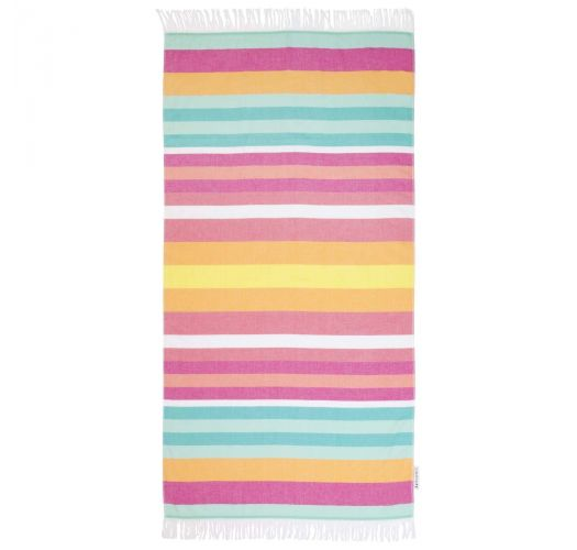 Πετσέτα παραλίας τύπου fouta με χρωματιστές ρίγες - FOUTA TALLALA