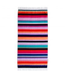 Striped velvet-feel beach towel - HAMILTON