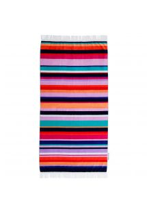 Striped velvet-feel beach towel - HAMILTON