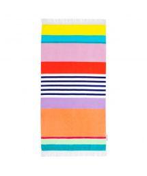 Striped velvet-feel beach towel - HAVANA