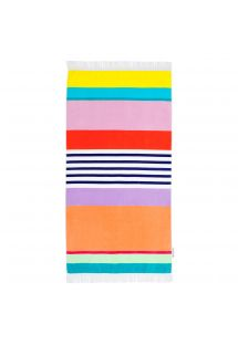 Striped velvet-feel beach towel - HAVANA