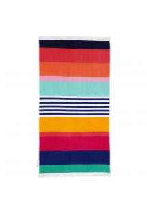 Colorful stripes velvet beach towel - LUXE TOWEL CATALINA