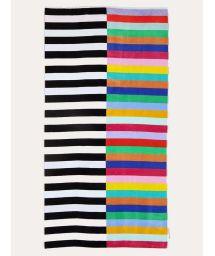 Mixed stripes beach towel - 100% cotton - LUXE TOWEL CROCODILE ROCK