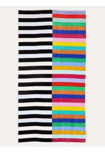 Mixed stripes beach towel - 100% cotton - LUXE TOWEL CROCODILE ROCK