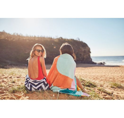 Geometric print beach towel - 100% cotton - LUXE TOWEL ISLABOMBA
