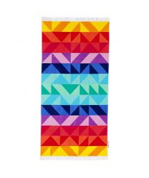 Colorful rectangular beach towel - LUXE TOWEL MONTEBELLO