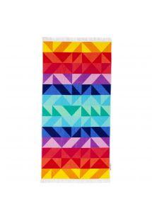 Colorful rectangular beach towel - LUXE TOWEL MONTEBELLO