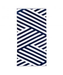 Two-tone velvet finish beach towel - MONTAUK