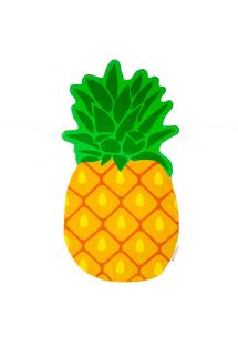 Pineapple shape beach towel 100% cotton - PINEAPPLE GROOVY
