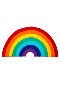 Rainbow shape beach towel - RAINBOW GROOVY