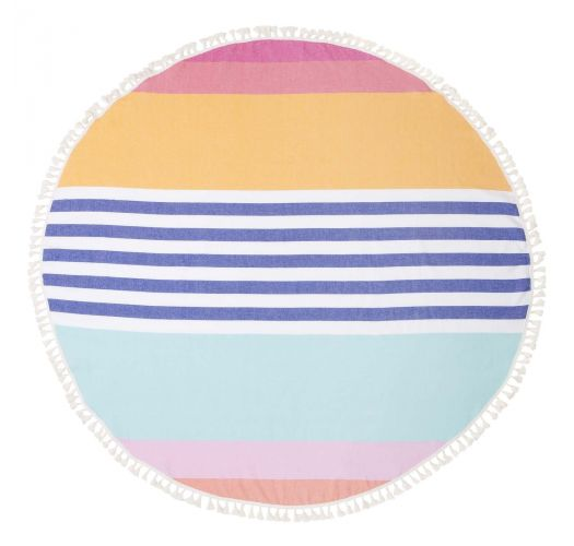 Round fouta with stripped pattern - ROUND FOUTA CATALINA