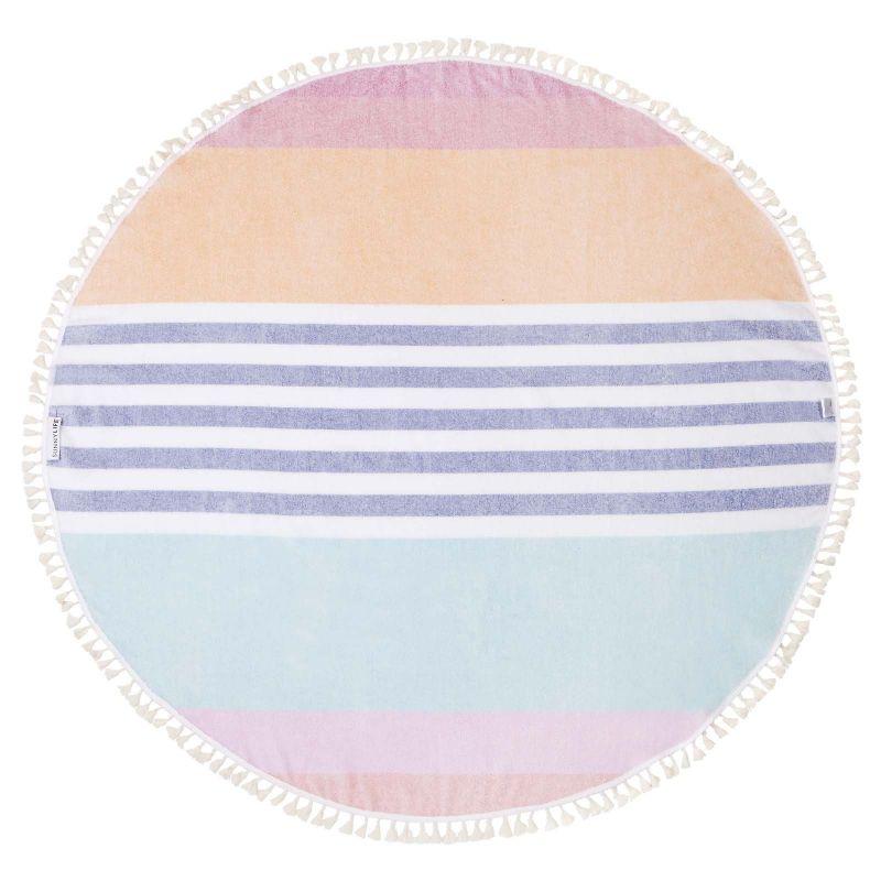 Round fouta with stripped pattern - ROUND FOUTA CATALINA