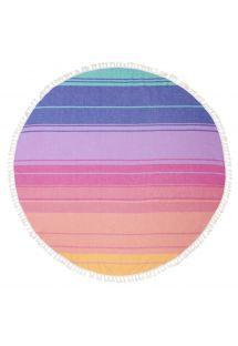מגבת פאוטה עגולהעם פסים צבעוניים - ROUND FOUTA NAVAGIO