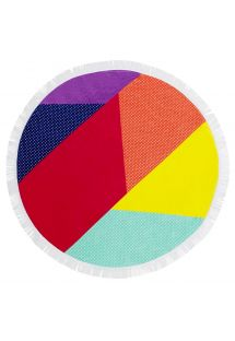 Colorful round beach towel - ROUND TOWEL HULULE