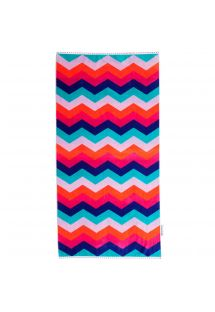 Zig-zag velvet touch beach towel - WATEGOS