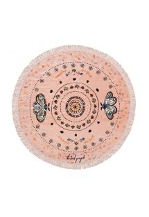 Round pink beach towel for girls - LITTLE BOTANICAL
