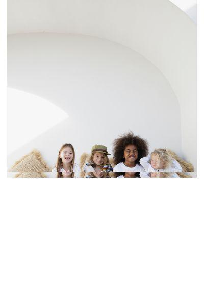 Round beach towel for children withfringed edges - LITTLE DESERT