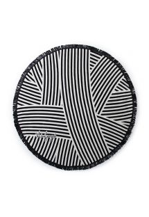 Black and white striped round beach towel - PALOMA CHIC