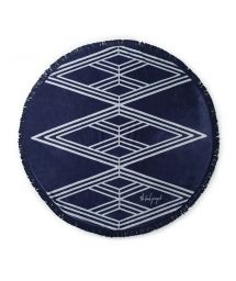 Cotton navy blue beach towel - SANTORINI CHIC