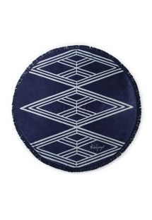 Cotton navy blue beach towel - SANTORINI CHIC